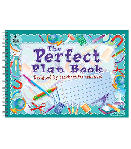 Carson Dellosa Perfect Academic Teacher Planner - Undated Daily/Weekly Lesson Plan Book and Record Organizer for Classroom or Homeschool (9.5' x 13')