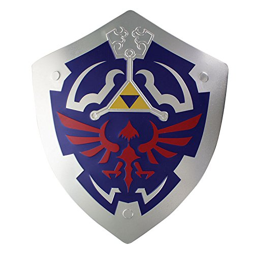 The Legend of Zelda Hylian Schild Master Metall Wand Kunst, Mehrfarbig,  32X27 cm