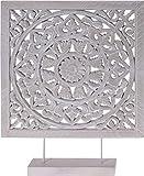 Meinposten. Holzornament mit Sockel weiß 40 x 50 cm Shabby Landhaus Holzbild Ornament Holz