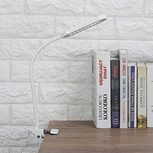 Bureaulamp, LED tafellamp met Touch Switch LED, tafellamp, oogbescherming, tafellamp (wit)