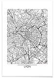 "JUNIQE® Stadtpläne Lyon Poster 60x90cm - Design ""Lyon"