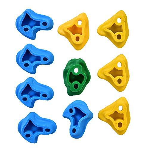 ROSEBEAR Juego de 10 piedras de escalada para pared, juego de piedras para escalada para niños, juego de rocas para interiores y exteriores
