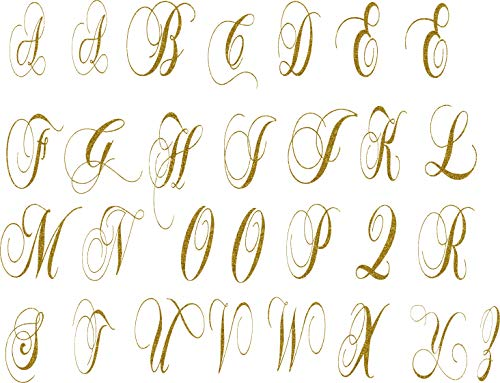 SEC Apparel Iron-On 3' Chopin Letters (Glitter Gold)