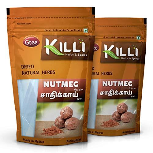 KILLI Nutmeg | Jathikai | Jaiphal | Jathikka | Jajikaya Powder, 100g (Pack of 2)