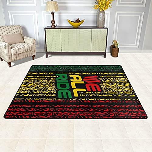 Alfombra de área para sala de estar, Reggae Nigth Reggae Music Rasta Alfombra antideslizante para el suelo, decoración del hogar dormitorio