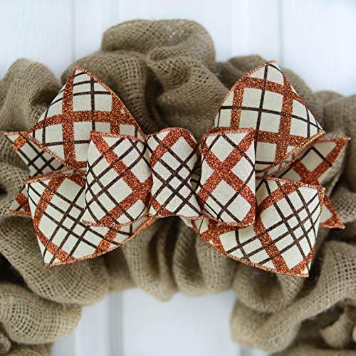 Fall Thanksgiving Plaid Wreath Bow - Wreath Embellishment for Making Your Own - Farmhouse Already Made