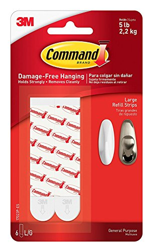 Command Mounting Refill Strips, Large, 36-Strip