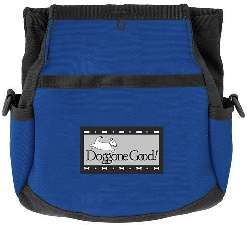 Rapid Rewards Deluxe Dog Training Bag with Belt by Doggone Good! (Blue)
