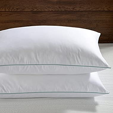 Basic Beyond White Feather Down Pillow - Hotel Collection Soft Density Bed Pillows Set of 2, King Size 20x36