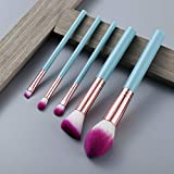 Juego de brochas de maquillaje profesional para mezclar base, colorete corrector, sombra de ojos, cosméticos, herramienta 5/15 piezas Style22, 5 unidades