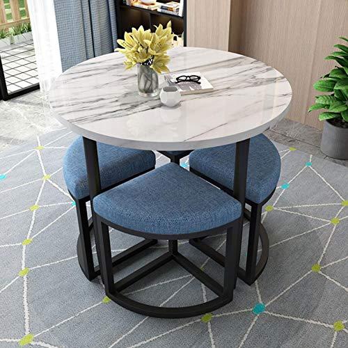 YANGYUAN Mesa de Comedor de mármol de Lujo Ligero y combinación de sillas Modernas Modernas de Mesa y Mesa de Comedor y Mesa de Comedor pequeño, Adecuado para salón, Sala de Estar, Oficina