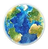 GT Graphics Planet Earth Beautiful Watercolor - 3' Vinyl Sticker - For Car Laptop I-Pad Phone Helmet Hard Hat - Waterproof Decal