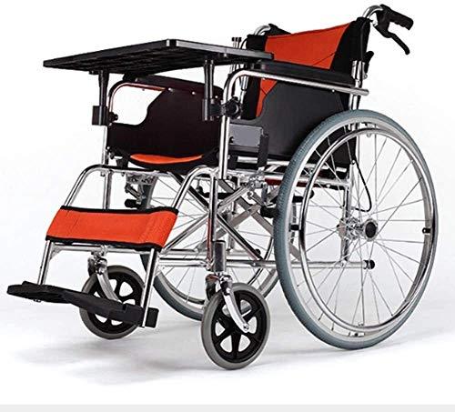 Syxfckc Mayores versátil Plegable de Aluminio de Peso Ligero Silla de Ruedas, Plegable Ultra-luz portátil, Adecuado for los Ancianos y discapacitados