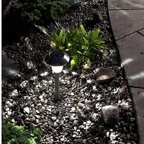 TOPofly Luces solares LED, Luces de Tierra a Prueba de Agua, decoración de jardín Iluminación Blanca para jardín Yard al Aire Libre