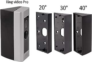 Doorbell Bracket Mount for Ring Video Doorbell Pro, Angle(20/30/40 Degree) Adjustment Adapter Mounting Plate Bracket Wedge Kit