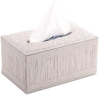 Uchwyt na skrzynkę Tissue Box Pokrywa PU Skóra Prostokątna skrzynka Tissue Box Holder Łazienka Housear Samochodowy serwetk...