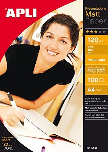 Apli Paper 12626 Papel Presentaciones A4 Mate 120GR 100H