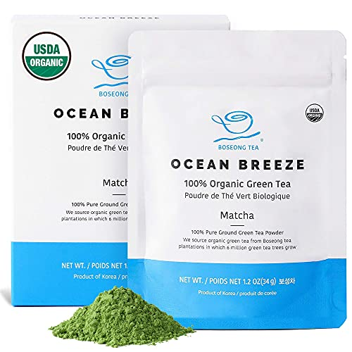 Organic Matcha Green Tea Powder [1.2 oz Starter] Culinary Grade Korean Tea, USDA Organic,...