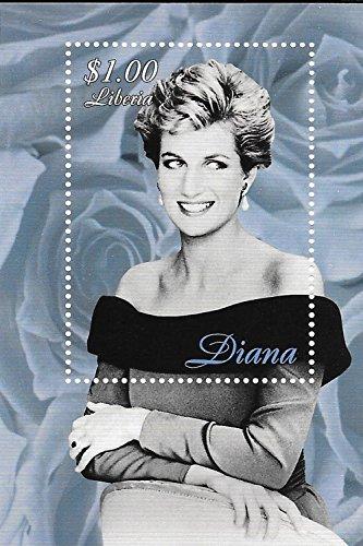 Briefmarken zum Sammeln, Bild vonPrinzessin Diana von Wales, einzelnes Stempelblatt