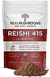 Real Mushroom Reishi Mushroom Powder for Longevity (45 Servings) Vegan, Organic, Non-GMO Reishi Extract, Reishi Mushroom Supplement for Relaxation, Better Sleep, Overall Wellness, Safe for Pets