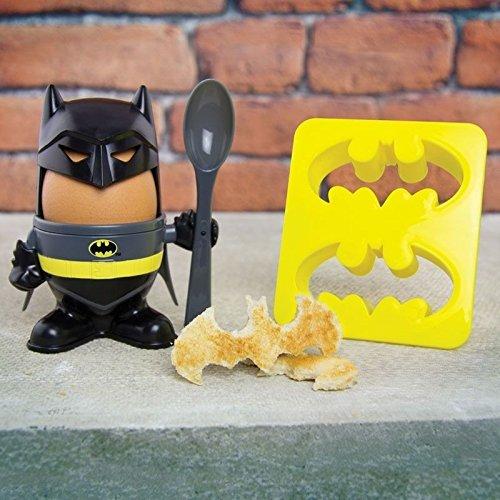 Batman Eierbecher mit Toastschneider - Dark Knight Frühstück mit Toastschneider