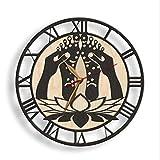 Reloj de Pared Novedad Reloj De Pared Silencioso Vintage Retro Masaje De Pies Grano De Madera Relojes De Pared Dormitorio...