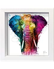 International Graphics - Postal enmarcada - Patrice, Murciano - ''Africa Pop''- 16 x 16 cm - Marco disponible en 4 colores - Color del marco: Blanco - Serie LUNA