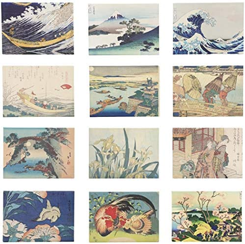 Hokusai Refrigerator Magnets 3 5 x 2 5 in 12 Pack product image