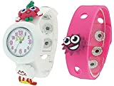 Moshi Monsters Girls White & Pink Interchangeable Strap Watch With...