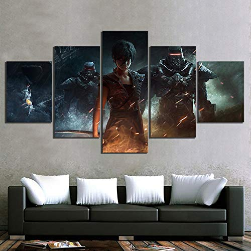 Impresiones modulares Imágenes Decoración para el hogar 5 paneles Más allá del bien y el mal 2 Pinturas de videojuegos Lienzo Cartel Dormitorio Arte de la pared (size)