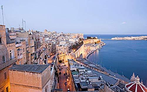 HEE WAG Landschaft von Valletta City Malta Europa Gemälde nach Zahlen DIY Unique