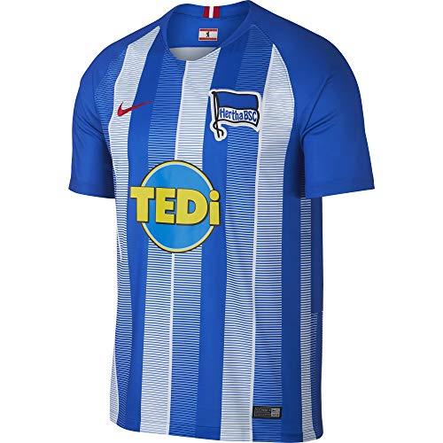 Nike Herren Hertha BSC Breathe Stadium Home T-Shirt, Hyper Cobalt/White/Speed Red, M