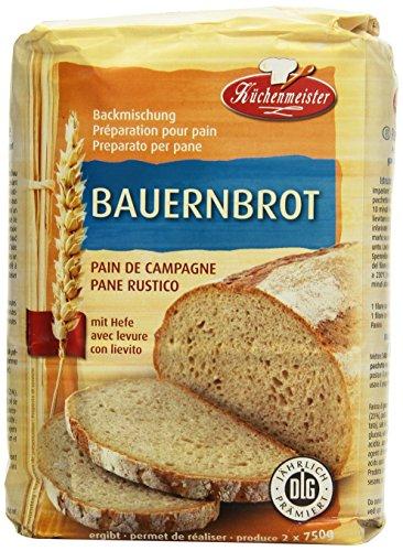 Küchenmeister Bauernbrot Backmischung, 10er Pack (10 x 1 kg)