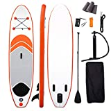 Backboards Inflatable Surfboarding,Premium Complete Accessories Stand Up Paddle Board,Non-Slip Easy to Carry Wakeboard Kayak,for Youth Adult Beginner,Orange,320x76x15cm(126x30x6inch)