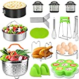 Accessories for Instant Pot 5,6,8 Qt,PECHAM Pressure Cooker Accessories Set Including 2 Steamer…
