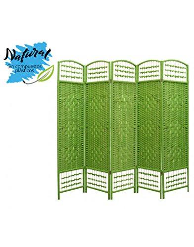 Home Line Schermo Verde Reed Naturale - 5 Paneles