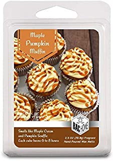 BAC Home Maple Pumpkin Muffin Soy Blend Scented Wax Cube Melts, 2.5 oz, [6 Cubes]