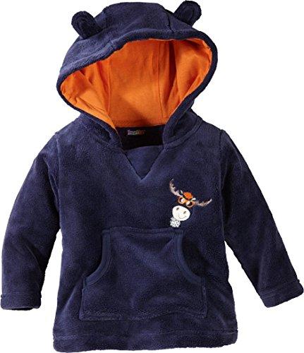 lupilu® Baby Jungen Teddypullover 'Elch', mit Kapuze (Navy/Orange, Gr. 62/68)