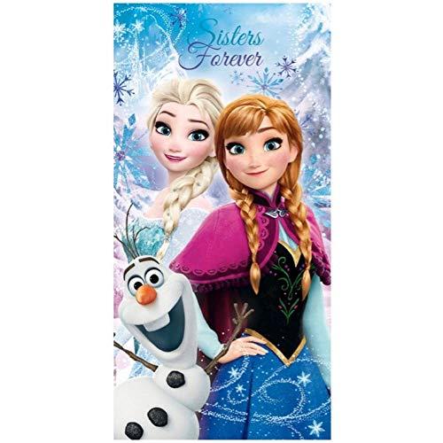 Generico Telo Mare Frozen Disney Elsa Anna Olaf Asciugamano in Cotone CM 140X70 - 45035/1
