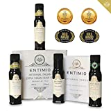 Entimio Collection | Extra Virgin Olive Oil Gift Set, Delicate to Robust Italian...