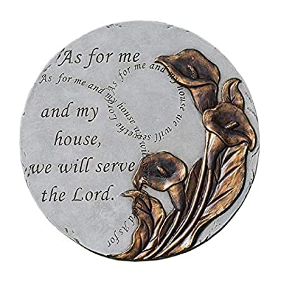 As for Me My House Bronze Tone 9 x 9 Resin Stone Outdoor Decorative Stone