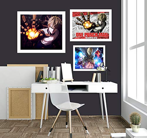 AJ WALLPAPER 3D One Punch Man 2136 Anime Combine - Papel pintado para pared, diseño de Angelia, Vinilo resistente (autoadhesivo)., X Large