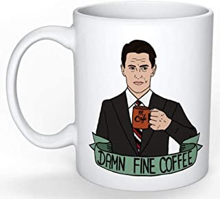 SkyLine902 - Twin Peaks Mug (Special Agent Dale Cooper Twin Peaks, David Lynch, Blue Velvet, Fargo, Stranger Cults, 80s, 90s), 11oz Ceramic Coffee Novelty Mug/Cup, Gift-wrap Available
