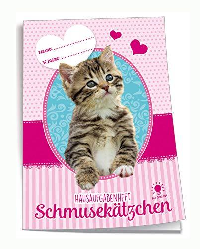 Trötsch Verlag  201833N - Hausaufgabenheft DIN A5, Schmusekätzchen, 96 Seiten, mit extra starkem Klarsichtumschlag