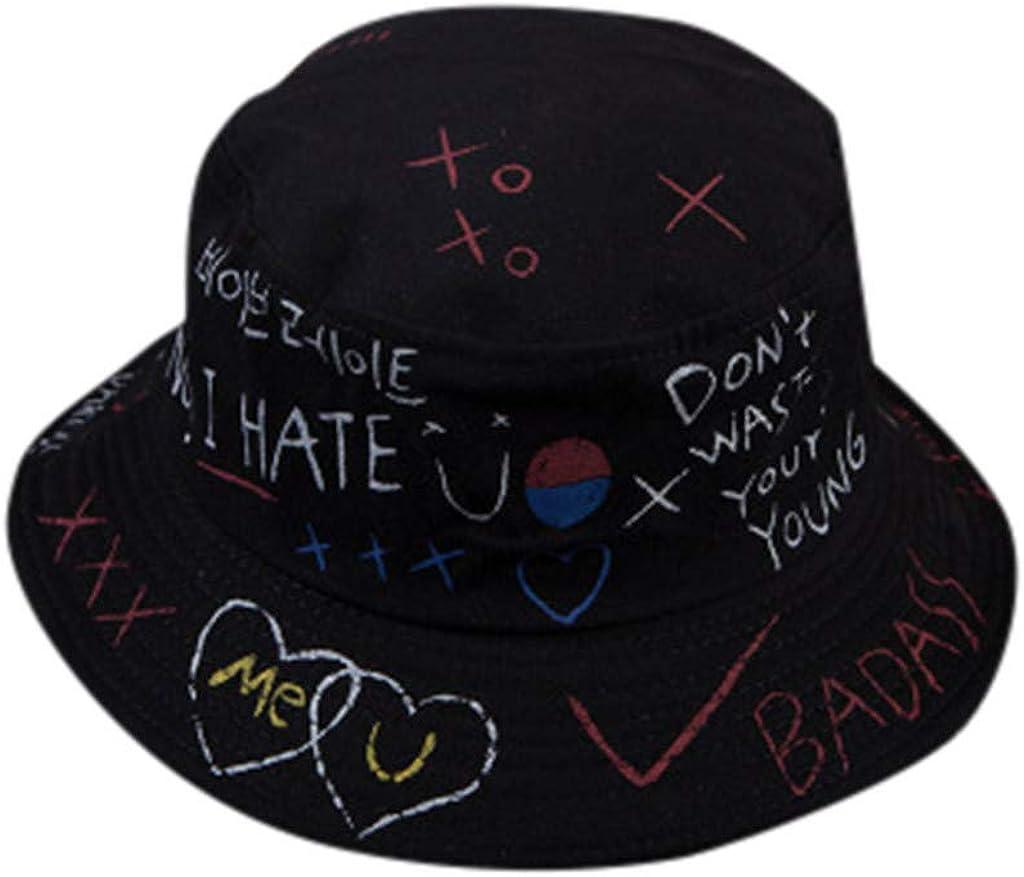 Hemlock Women Girls Max 80% OFF Cute Print Hat Bargain Ha Double-Sided Fisherman Sun