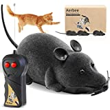 Aerbee Remote Control Mouse Toy, RC Electronic Rat Flocking Mouse Toy Interactive Cat Toys Fun for Cats Dogs Pets, Moves Like a Real Mice