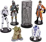 Disney Star Wars Collectible Figures Toy Playset Theme Park Exclusive - The Empire Strikes Back - Luke Skywalker, R2-D2, Yoda, Stormtrooper, Han Solo, Boba Fett