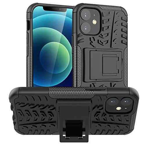 ALDHOFA iPhone 12 Mini Hülle,(TPU Series) Handyhülle Schutzhülle Silikon für iPhone 12 Mini-Schwarz