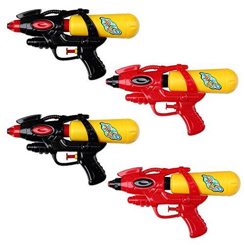 Schramm 4 Pezzi Pistola ad Acqua 21cm con Serbatoio Rosso / Nero Pistole ad Acqua Pistole ad Acqua Pistola ad Acqua Pistola ad Acqua