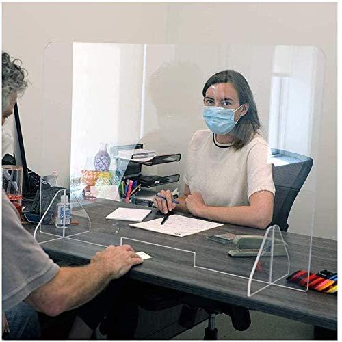 Escudo Protector de Estornudo Acrílico, Mesa de Pared Protectora de Plexiglás la Pantalla Protectora Transparente de las Particiones Espesa 3-4 Milímetros para Encimeras de Mostrador de Escritorio